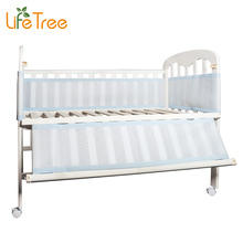 LifeTree Breathable Mesh Crib Bumpers Baby Bedding 3 Layer Crib Liner Cot Bed Around Crib Netting Protector