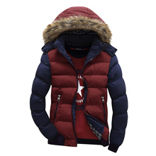 New Men's Winter Jackets 5XL Thick Hooded Fur Collar Parka Men Coats Casual Padded Mens Jackets Male Brand Clothing BF079