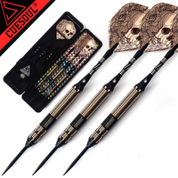 High Quality 3PCS Set CUESOUL New 23g Professional Steel Tip Darts Black Dart Body With Dart
