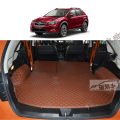 free shipping luxury pu leather car trunk mat cargo mat for subaru xv 2015 2016