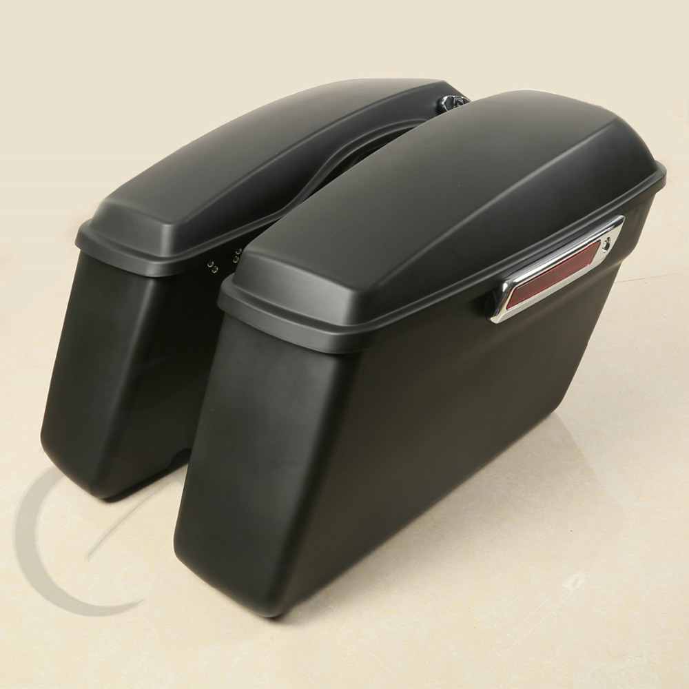 Matte ABS Hard Saddle Bags Saddlebag For Harley Touring FLHT FLHR FLTR FLHX 2014 2018 2015