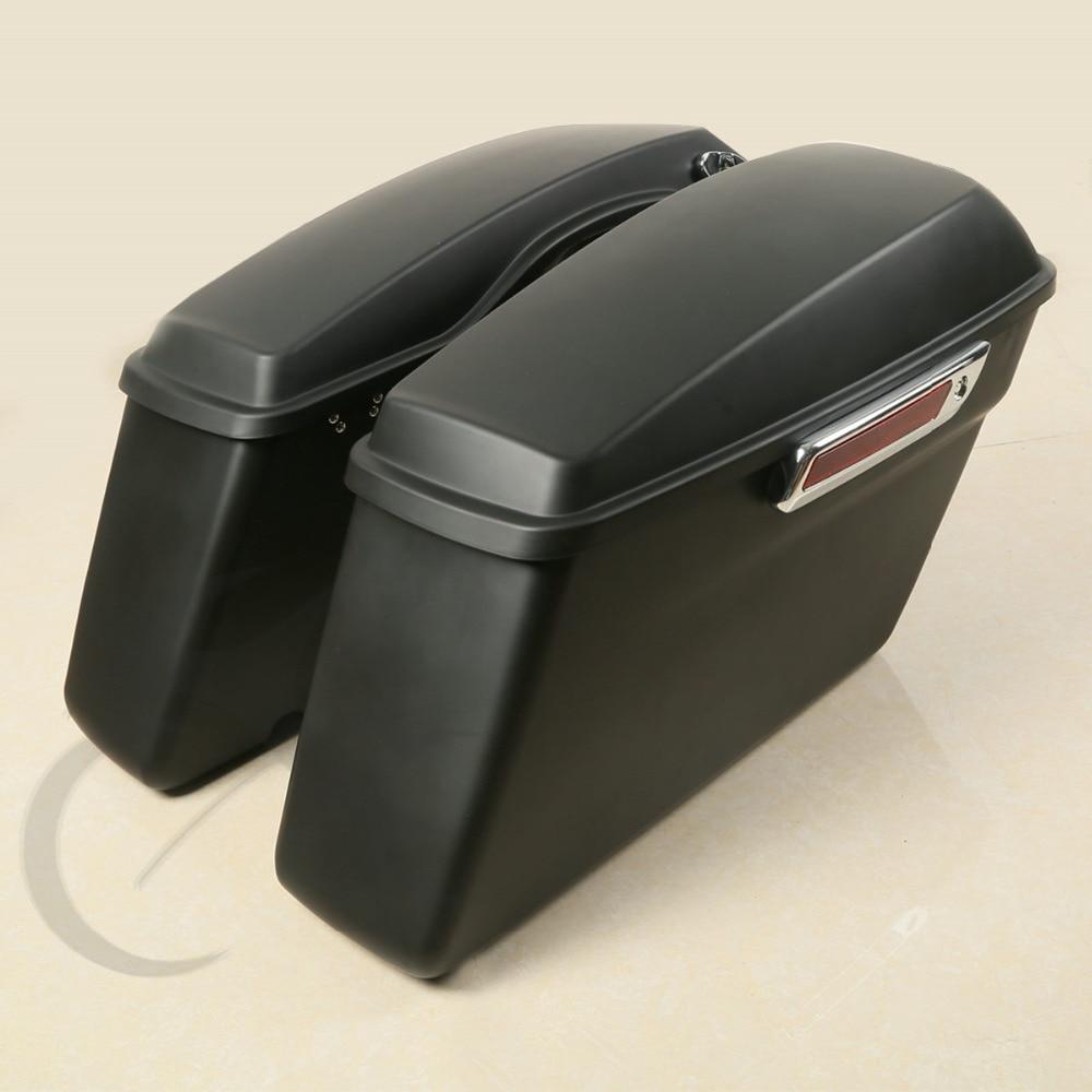 Pachete de huse pentru șaibă mată ABS Saddlebag pentru Harley - Accesorii si piese pentru motociclete