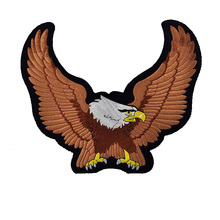 DIY Eagle Wings Patches For Clothes Badge Fabric For Clothes Stickers Iron On Cheap Big EmbroiderIed Biker Motorcycle Patch