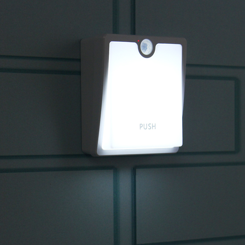Dimmable LED Night Light Lamp 1.5W PIR Wireless Induction Sensor Motion Detector Wall Light Battery Powered DC4.5V led smart night light intelligent auto pir led keyhole light ir motion sensor heat detector door lock induction lamp