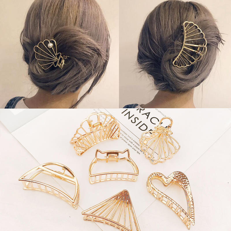 Women/'s Crab Hair Clips Grab Large Hairpin Claws Hair Clamp Accessories Ponytail