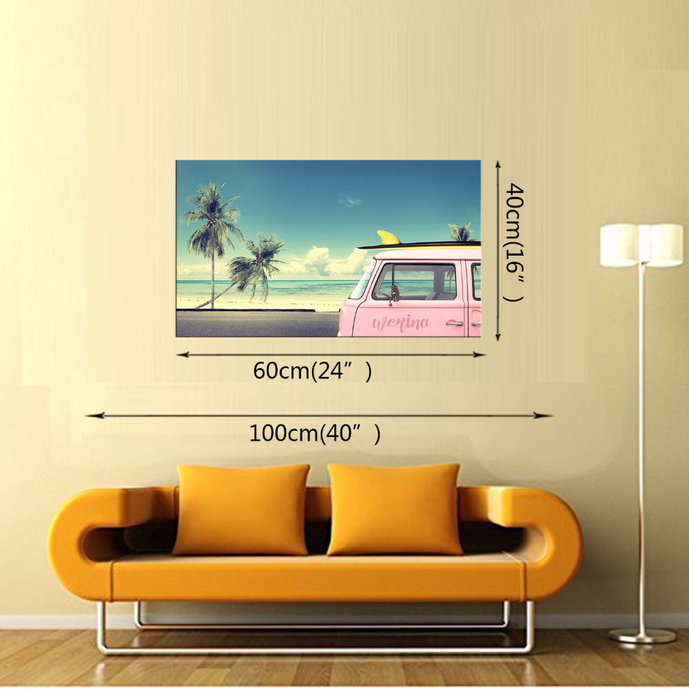 1 Panel Coconut Tree Beach Scenery Picture Print Painting Modern ...