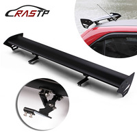 RASTP 43.3 Adjustable Aluminum No Perforation Auto Car Hatchback Spoiler GT Style Rear Trunk Wing Tail Racing Spoiler RS LTB137