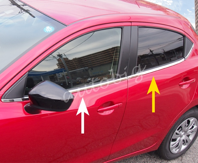 Stainless Steel Door Window Trims For Mazda 2 Demio 2015 2016 2017 2018 DJ DL Accessories