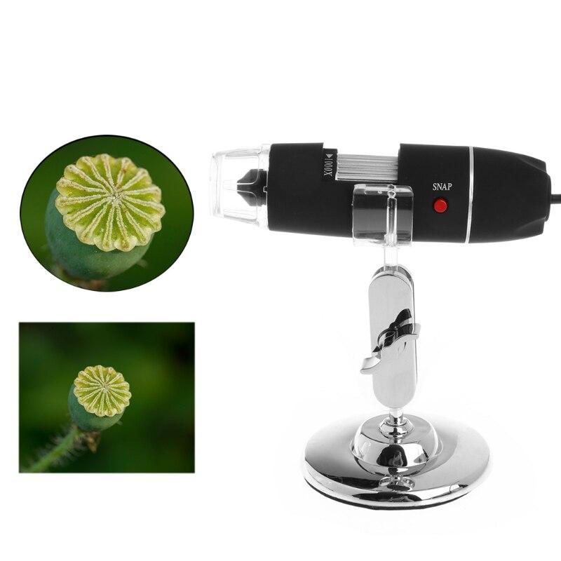 2MP 1000x8 LED USB digital microscopio endoscopio zoom Cámara lupa con soporte L15
