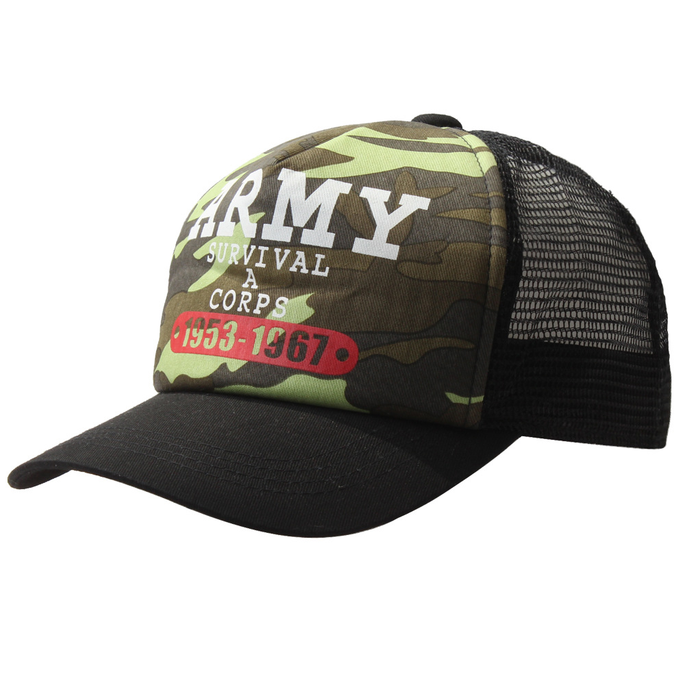 ARMY Caps SURVIVL A CORPS 1953-1967 Children's hat Mesh Hat Japanese Quality Retro Snapback Camouflage Child Baseball Caps econscious organic cotton twill corps hat ec7010