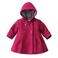 Baby Girl Toddler Warm Fleece Winter Pea Coat Snow Jacket Suit Clothes Red Pink M1