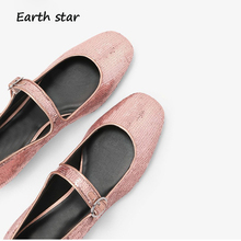 42b6234f1857 Chaussures Femmes Sequin zapatos de mujer Glitter Mary Jane Appartements chaussures  femme Nouvelles Dames chaussures Argent