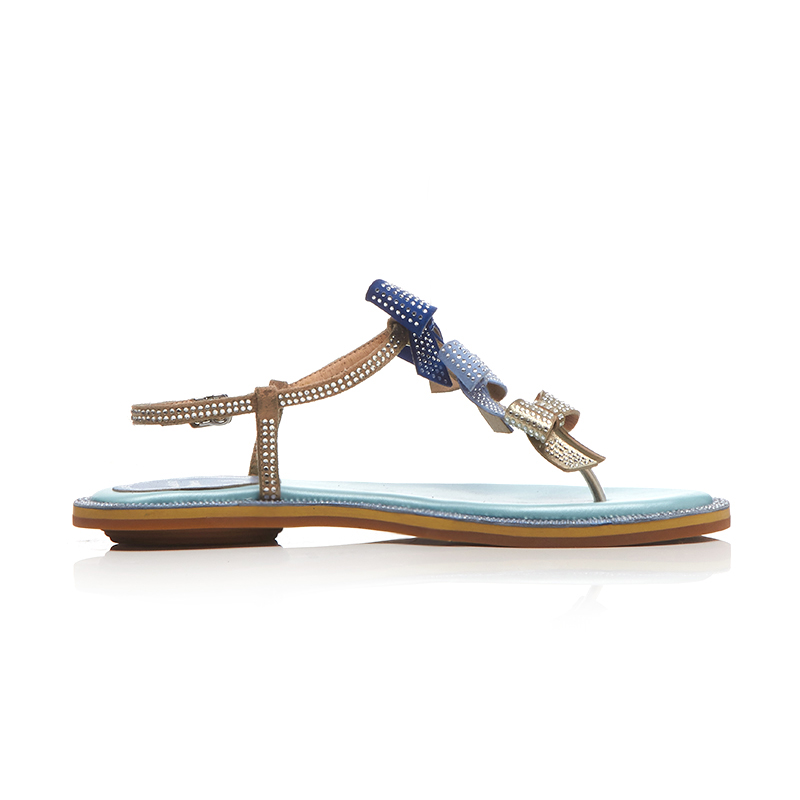 Tobillo Chancletas Blue Hebilla Planos strap Mujer Zapatos Moda Furtado Nudo T 2018 Mariposa Bling Verano Sandalias Arden pink BvqAzxZw