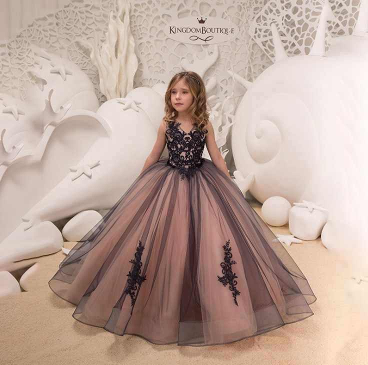 Girls Lace Sally V Neckparty Dress Kids Girl Wedding Birthday Ball Gown Princess Dress Girls Hollow To Floor Costume Dresses Aliexpress
