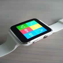 2016 neue weiß schwarz Bluetooth Smart Uhr X6 Smartwatch sport Für Apple Android-handy Mit Kamera FM Unterstützung SIM karte