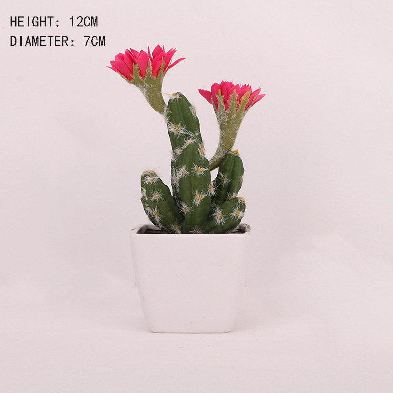 Image 4 - Artificial Plastic Cactus Succulents Prickly Pear Potted Plant no Pot Eco Friendly Simulation Home Office Desktop Decorations-in Artificial Plants from Home & Garden