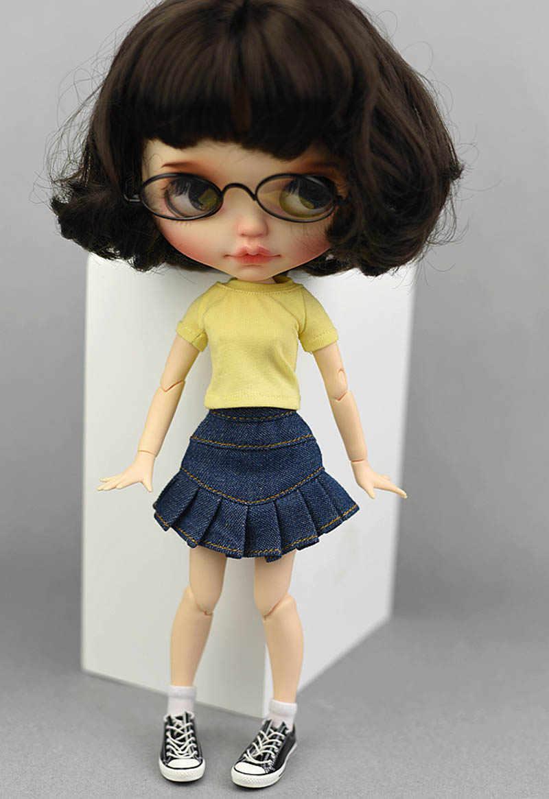 Синие джинсы Повседневная одежда для Blythe Кукла, детская игрушка, юбка трапециевидной формы для Blyth кукла licca одежда Кукла 1/6 аксессуары