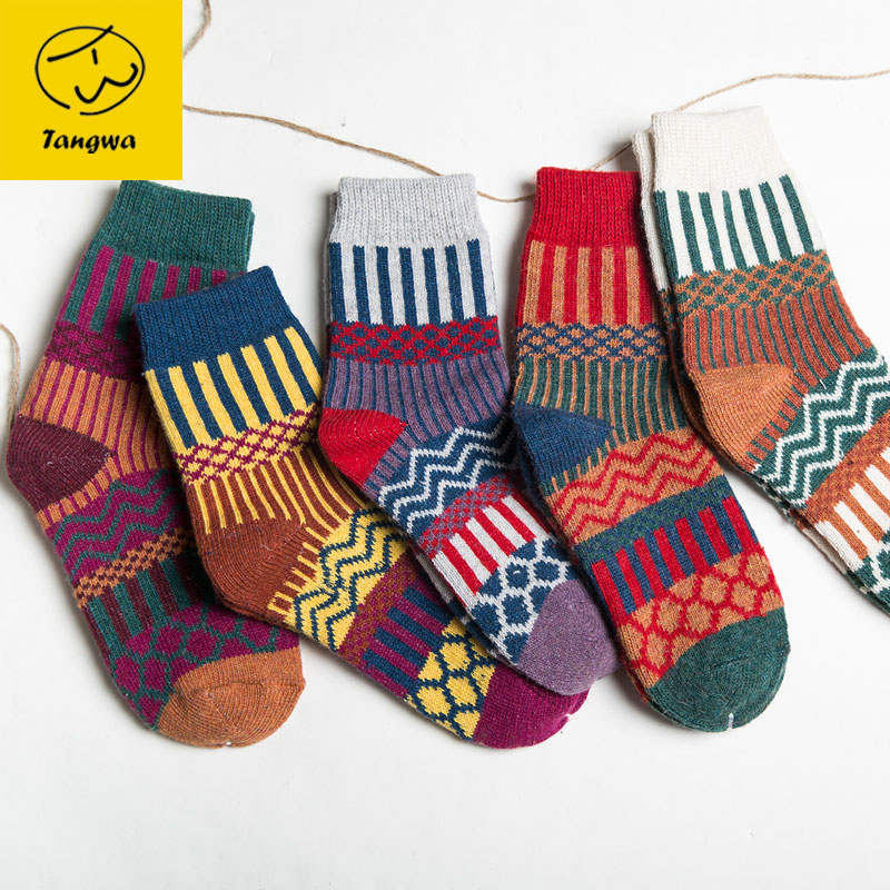 5pairs Autumn Winter thick sock s