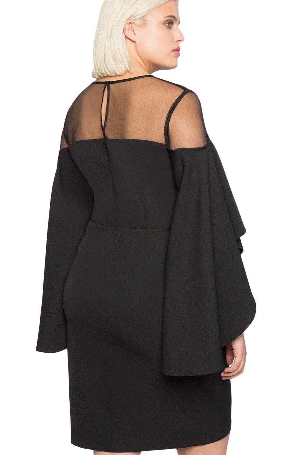 Black-Mesh-Illusion-Cold-Shoulder-Plus-Size-Dress-LC220395-2-3