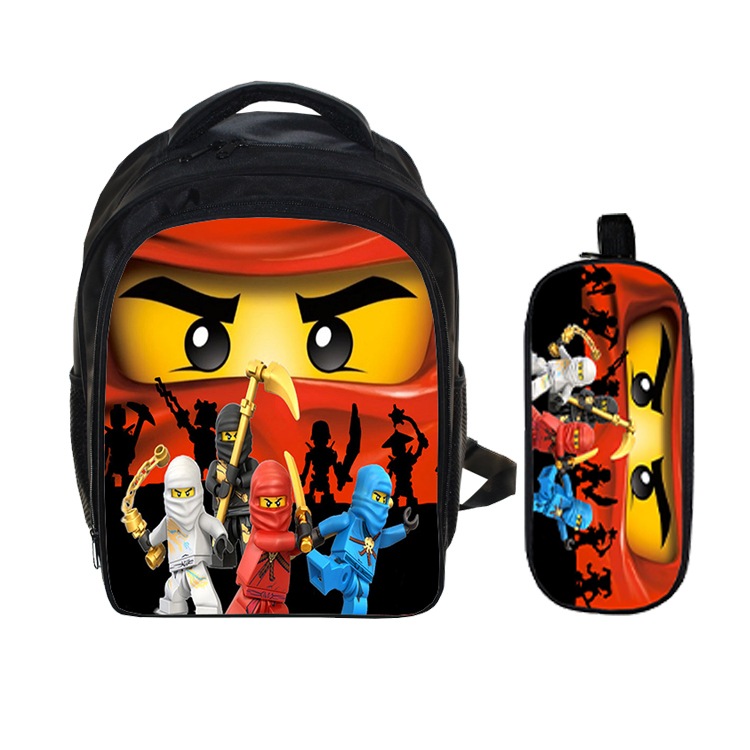13 Bagiau Inch Lego Ninja Batman School for Kindergarten Plant plant Ysgol Backpack for Girls Boys Pecynnau cefn plant Mochila