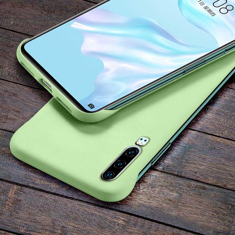 Роскошный Бескаркасный матовый чехол для телефона из поликарбоната для huawei P30 P20 Pro mate 20 Pro Nova 5 Pro Honor 8X20 Pro