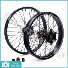 Black New Front Rear 21″x1.6 18″x2.15 Motorcross MX Wheel Rim CNC Hub Set for Suzuki RMZ 250 07-15 RMZ 450 05-15