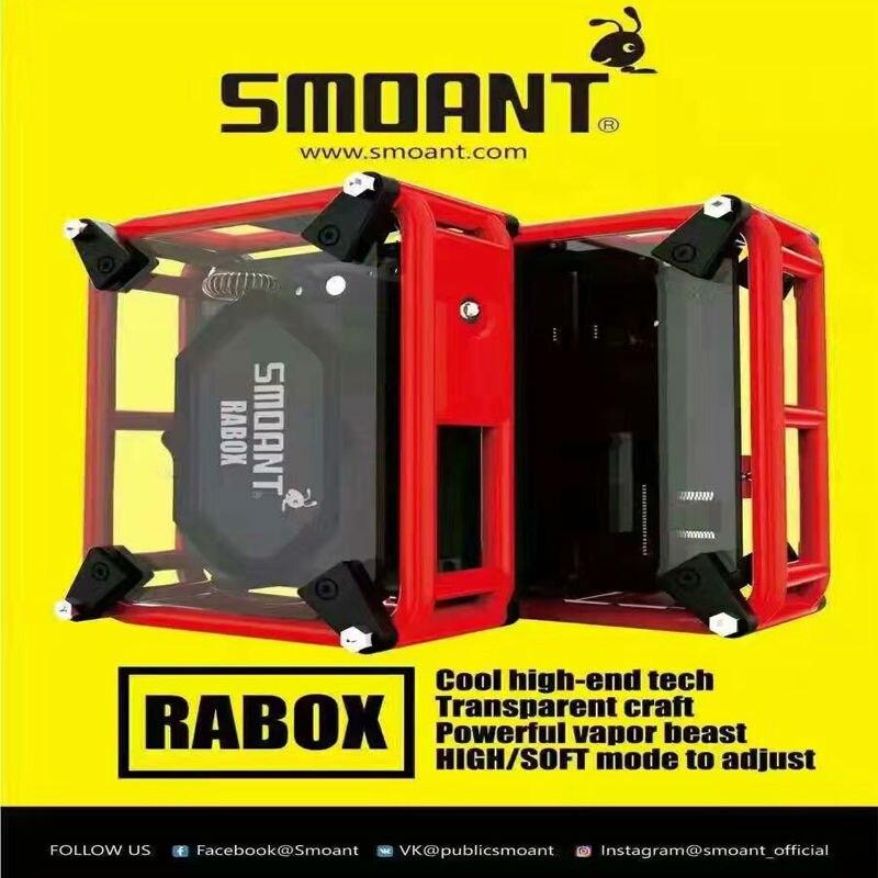 Здесь можно купить   5pcs/lot 100% Original Electronic Cigarette Smoant Rabox e-cigarettes High/Soft Adjustable Box Mod Vape DIY Vaper e cigarette    Бытовая электроника