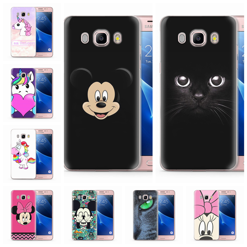 Coque Für Funda <font><b>Samsung</b></font> Galaxy <font><b>J5</b></font> <font><b>2016</b></font> Fall J510 J510F TPU design Silicon Nette Minnie <font><b>Mickey</b></font> Abdeckung Fall Q051 image