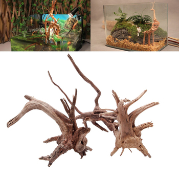 Wood Natural Tree Trunk Driftwood Aquarium Fish Tank Plant Decoration Ornament XS/S/M image