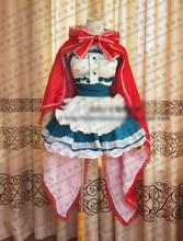 Fairy Tail Little Red Riding Hood Yazawa Nico Cosplay Costume Halloween Uniform Headdress+Shirt+Skirt+Apron+Cape+Bow