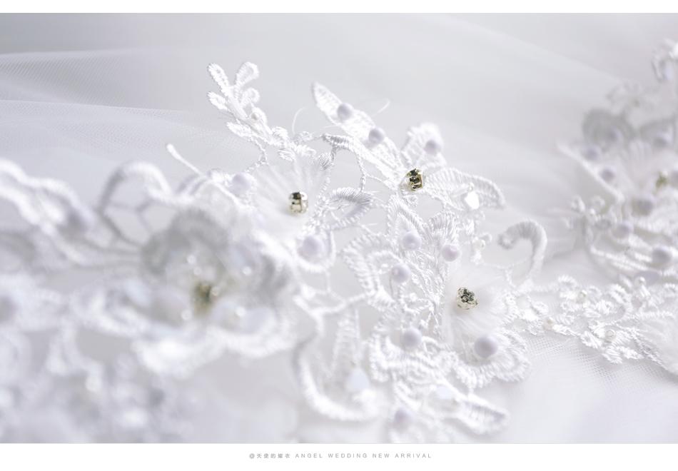 Angel Wedding Dress Marriage Bride Bridal Gown Vestido De Noiva 2017 Boat Neck Nail, lace, 2129 15