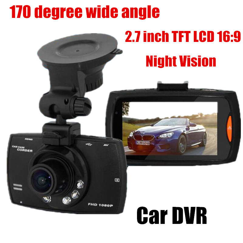 170 Degree Wide Angle Original 2.7 Inch LCD Car DVR Car Camera video Recorder car camcorder Night Vision G-Sensor