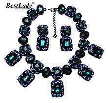 Mejor dama Nueva Llegada za Declaración de Moda de Lujo Crystal Gem Collar de Lujo de La Vendimia y colgantes Collar Gargantilla Collar B225