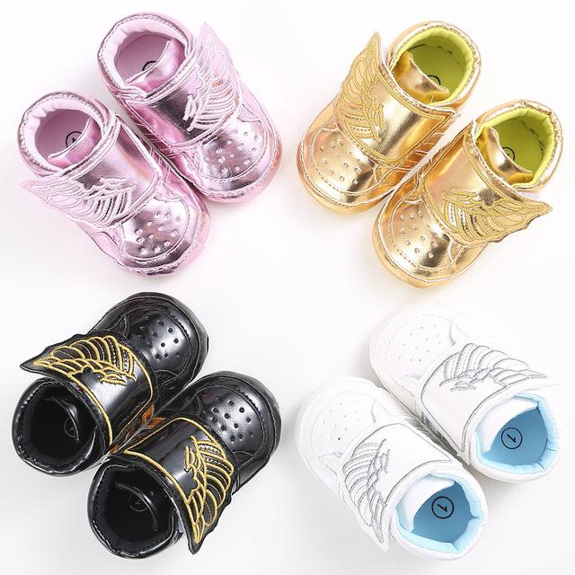 Bebé Zapatos de Niño Los Niños Y Niñas Zapatillas de Deporte Casuales YMC019 Alas Inferiores Suaves 0-1 Años de Edad