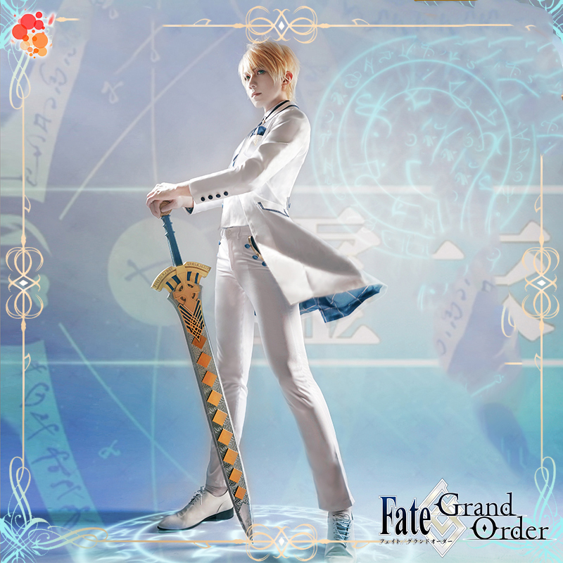 FGO Fate Grand Order Arthur Pendragon White Valentine's Day Shirt Coat Vest Pants Uniform Outfit Anime Cosplay Costumes
