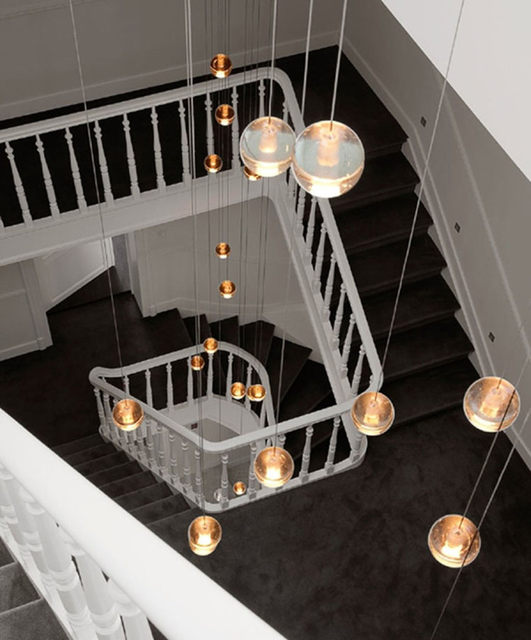 Online shop novelty 14 26 balls led stair lighting crystal pendant novelty 14 26 balls led stair lighting crystal pendant lights penthouse long pendant lamp g4 led luminaria hotel staircase lamps mozeypictures Image collections