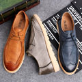 2016 New Autumn Retro British Leather Shose Men Flats Fashion Low Casual Shoes Men Loafers Oxford Shoes For Men Free Shipping
