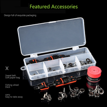 Fishing Rod Accessories Set Fishing Reel Deck Seat Stainless Steel Rod Tip Guides Rings Non-slip Fishing Rod Grips for Pesca