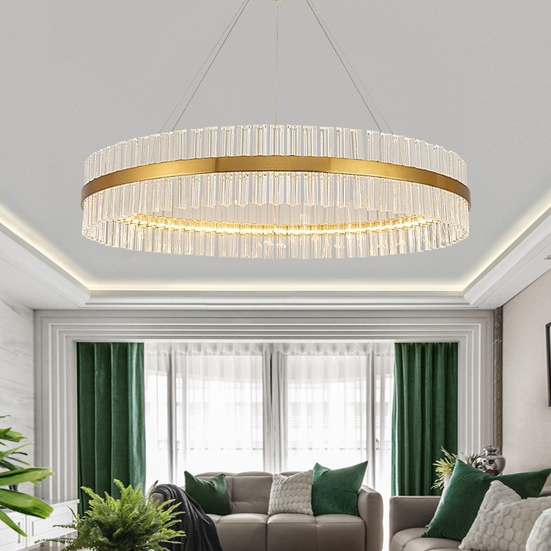 Moder Chandelier Light Luxury Living Room Lamp Nordic Crystal Chandelier Atmosphere Modern Minimalist Creative Restaurant Lamps