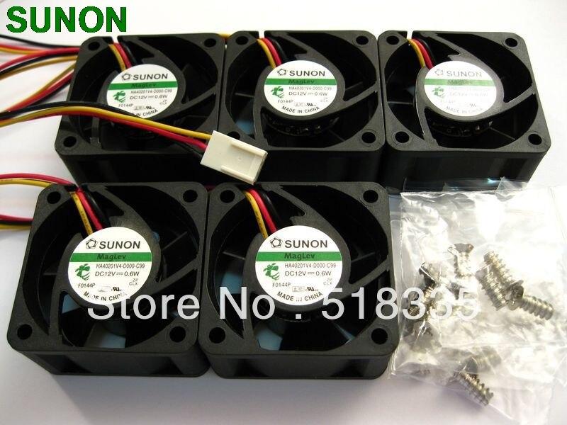 Sunon Magnetschwebebahn HA40201V4-0000-C99 4 CM 40*40*20 MM 4020 DC 12 V 0,6 Watt Super Stille Fan