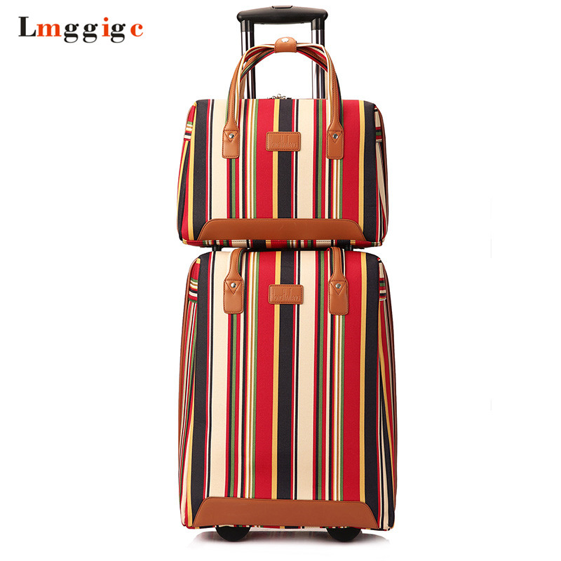 Women Rolling Luggage Bag ,Oxford cloth Travel Suitcase with Handbag,Trolley Case ,Wheel Box,Portable Carry-On,Dragbox Car car trunk storage box folding suitcase with wheel portable new top quality travel trolley carts 3 colors daily usage