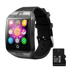 Smart Uhr Q18 Unterstützung SIM TF Karte bluetooth nfc Verbindung mit 0.3MP Kamera für Apple iOS Android Telefon Smartwatch