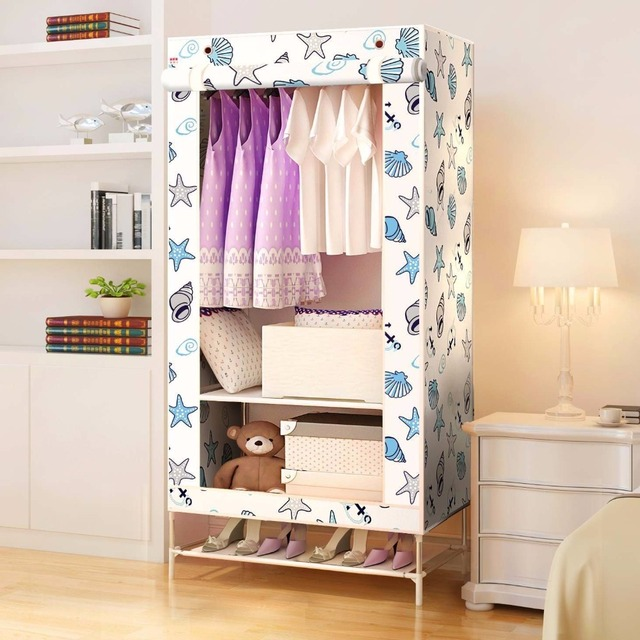 80 Portable Clothes Closet Wardrobe, Freestanding Bedroom Armoire ...