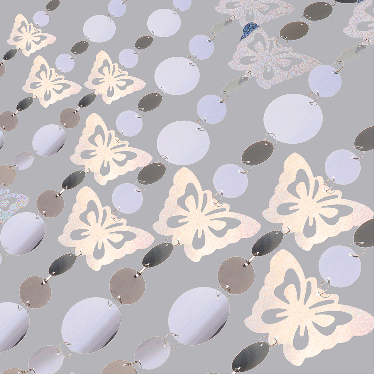 PVC Sequins Curtains Partition Hanging Party Pendant Ornaments Home Christmas Wedding Decorations Square Butterfly Pendants