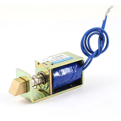 JF-S0837DL 10mm Stroke 1.5Kg 15N Force Pull Type Open Frame Actuator Solenoid Electromagnet DC 12V 24V 1A Door Lock Assembly