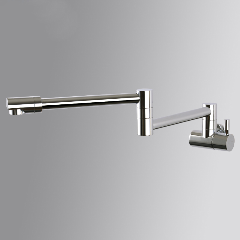 Into the wFull Copper cold vegetable washing basin faucet kitchen faucet universal foldable rotary Brushed