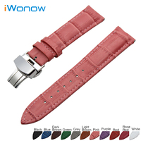 Genuine Leather Watch Band 22mm For Samsung Gear S3 Classic Frontier Stainless Butterfly Buckle Strap Wrist
