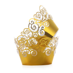 Image 2 - 12pcs/lot Little Vine Lace Laser Cut Cupcake Wrapper Liner Baking Cup Hollow Paper Cake Cup DIY Baking Fondant Cupcake