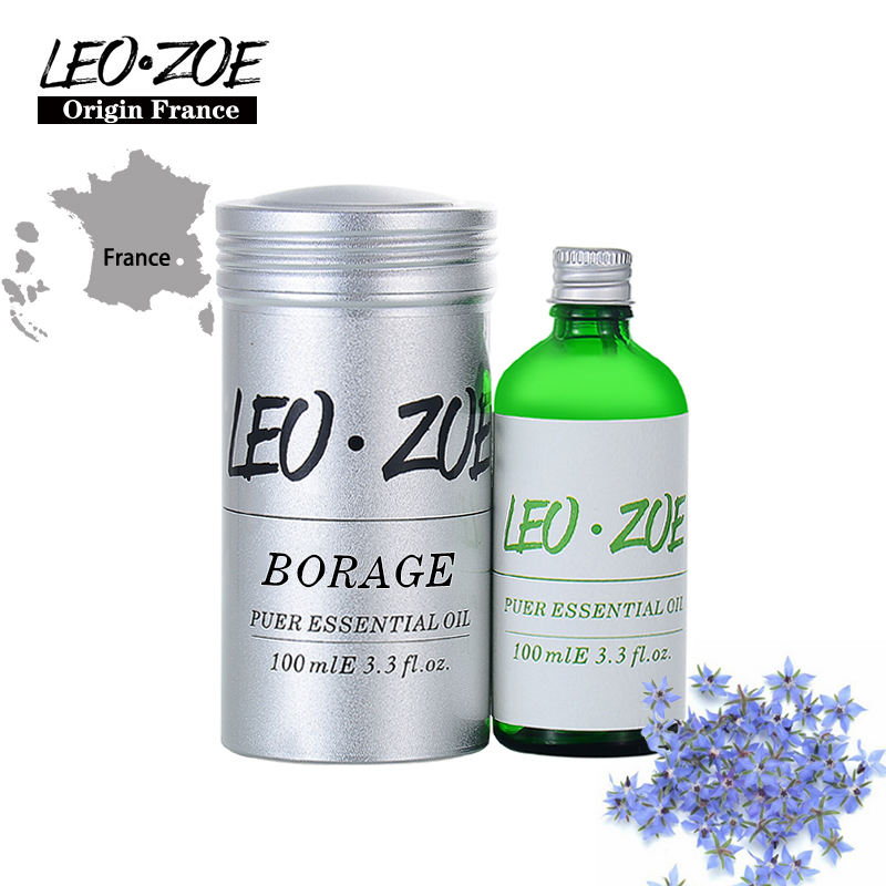 LEOZOE Borage Oil Certificate Of Origin France High Quality Authentication Borage Essential Oil 100ML Aceites Esenciales