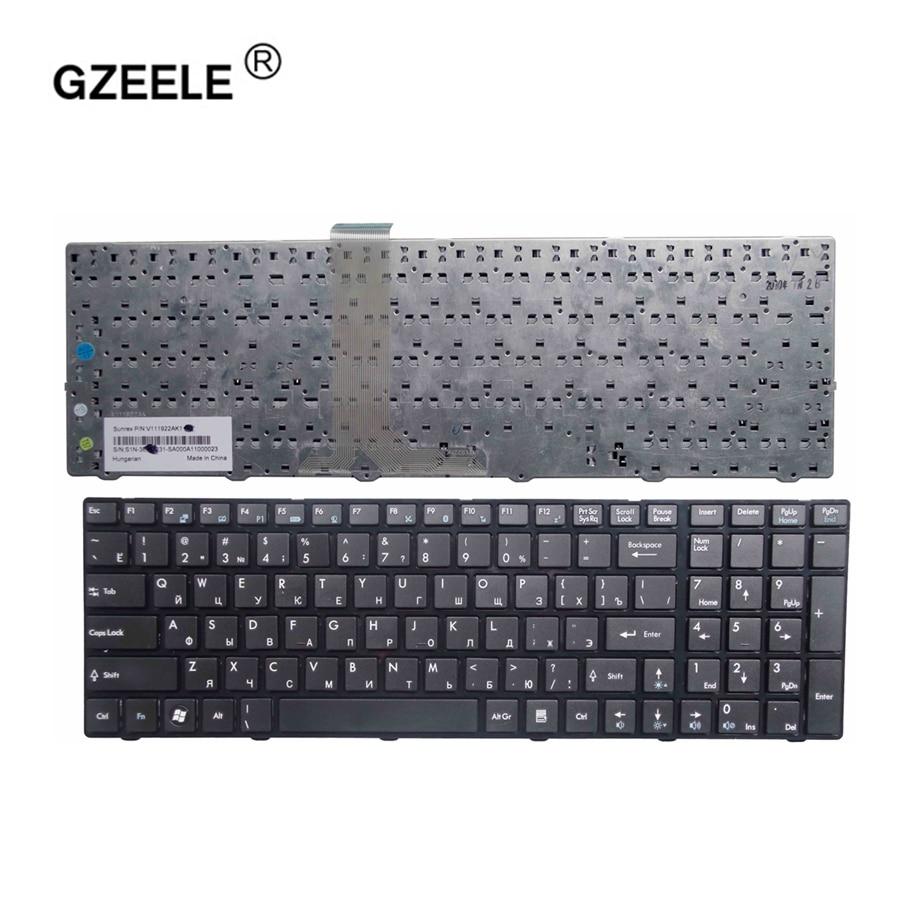 GZEELE New Russian Laptop Keyboard For MSI MS-1754 MS-1754-ID1 V111922AK1 V111922AK3 S1N-3EUS231-SA0 Black RU Version
